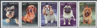 AUS SG3938a Top Dog strip of 5